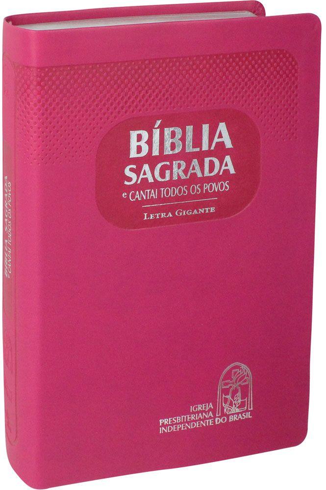 Bíblia com CTP - RA, Letra GIGANTE, Pink, Capa emborrachada