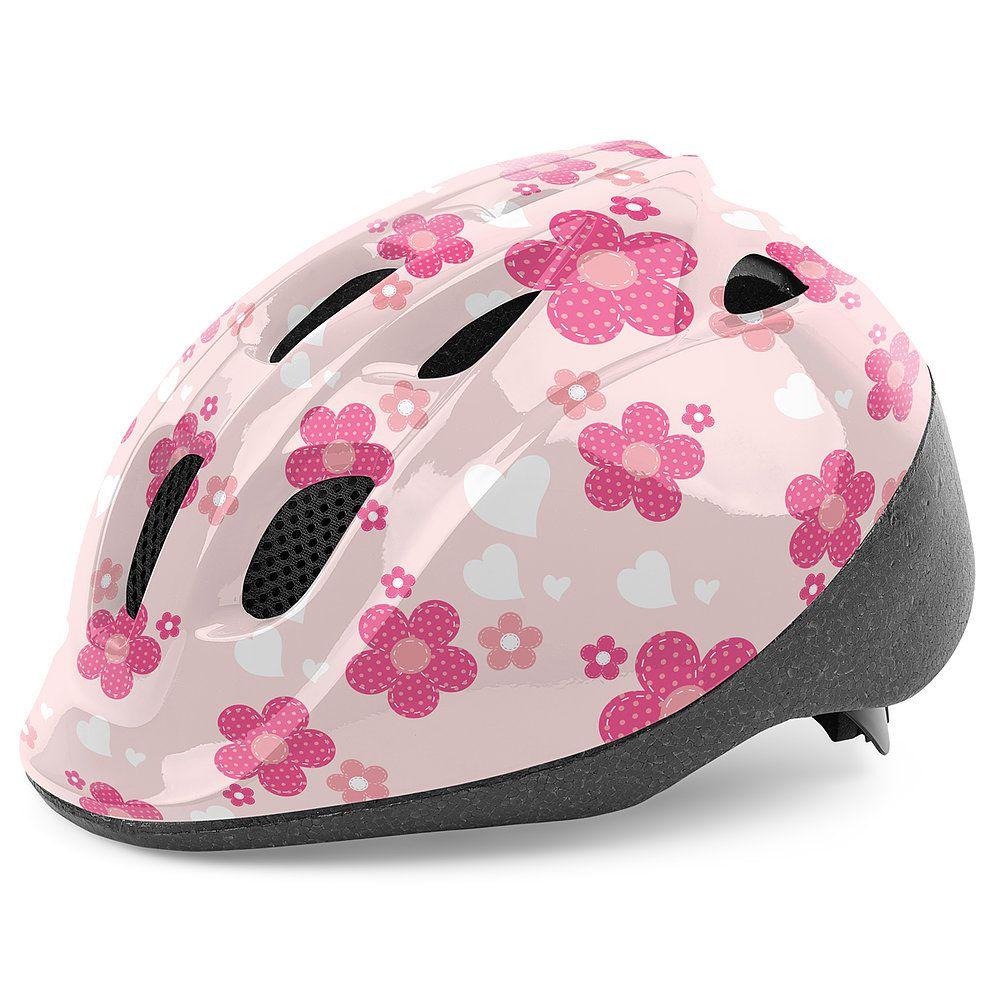 6ba3871a3 Capacete Infantil Feminino Bicicleta Bike Ciclismo Skate Patins ...