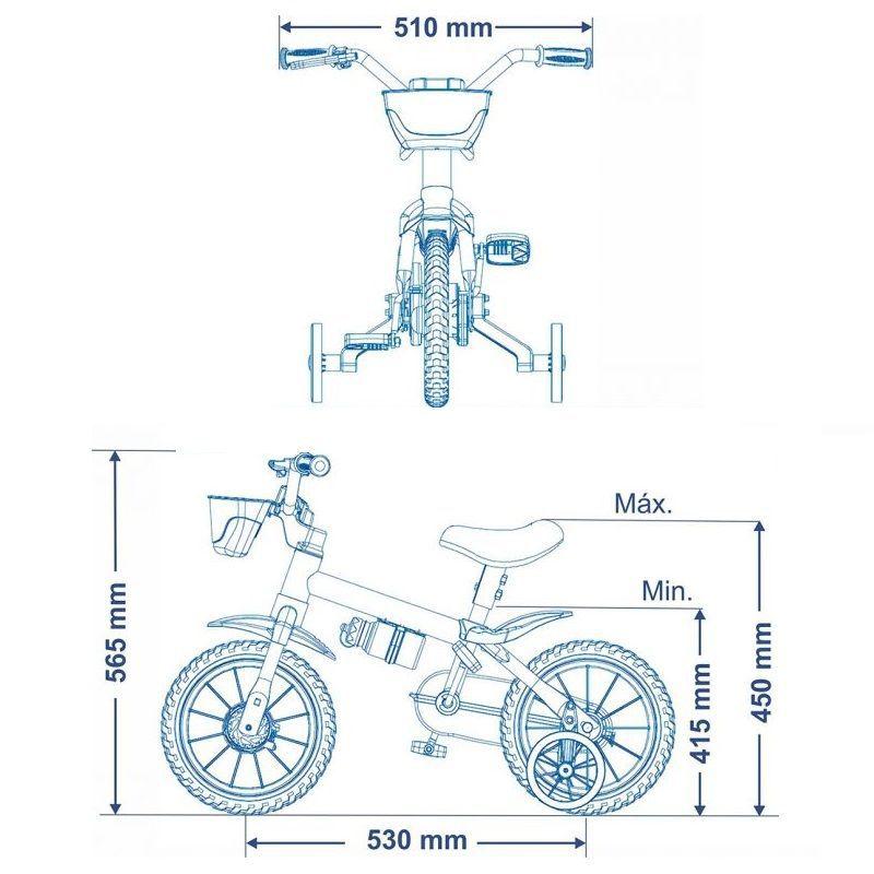 fbb6bc7c7 Kit Bicicleta Nathor Fireman Aro 12 Infantil Menino + Capacete ...