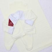 Saída de Maternidade Bolso Off White P