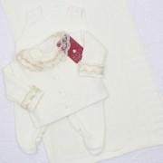 Saída de Maternidade Trançada Off White P