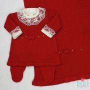 Saída de Maternidade Vestido Laço Vermelho P