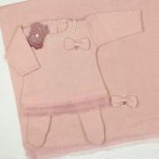 Saída de Maternidade Vestido Renda Rosê RN