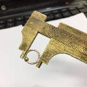 Ouro 18k Argola Ferradura 8mm Piercing Cartilage Tragus Septo CP02k062