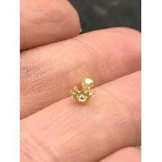 Piercing Ouro 18k Coroa com Pedra Branca Orelha Tragus Cartilagem Helix CO26K050