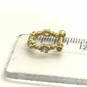 Piercing Conch Pedras Brancas Brilhante Ouro 18k Orelha 06K150