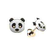 Brinco Ursinho Panda Ouro 18k K077