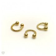 Ouro 18k Piercing Argola Ferradura Cartilagem Tragus Orelha