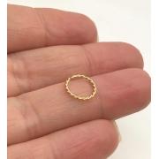 Piercing Ouro 18k Argola Trançada 8mm Nariz Tragus Orelha
