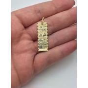 Pingente com Corrente Escrava Piramides Farao Egito Ouro 18k