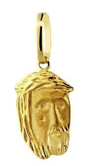 Pingente Rosto De Cristo - Jesus em Ouro 18k Amarelo - K07