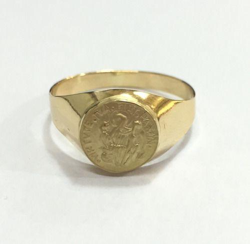 Anel Sao Bento Pequeno Ouro 18k Teor 750 Amarelo Fdasb1 - k31