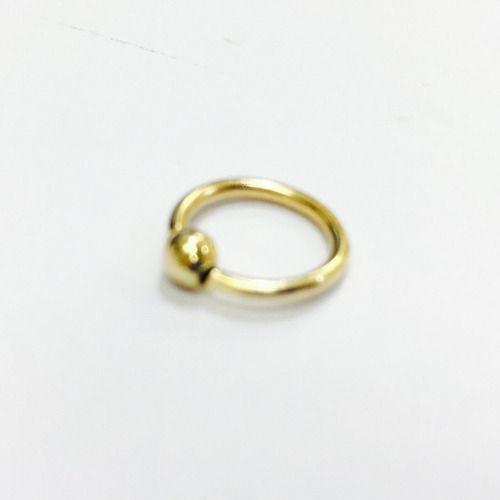 Ouro 18k Argola Ferradura 10m Piercing Cartilage Tragus Septo CP03k075