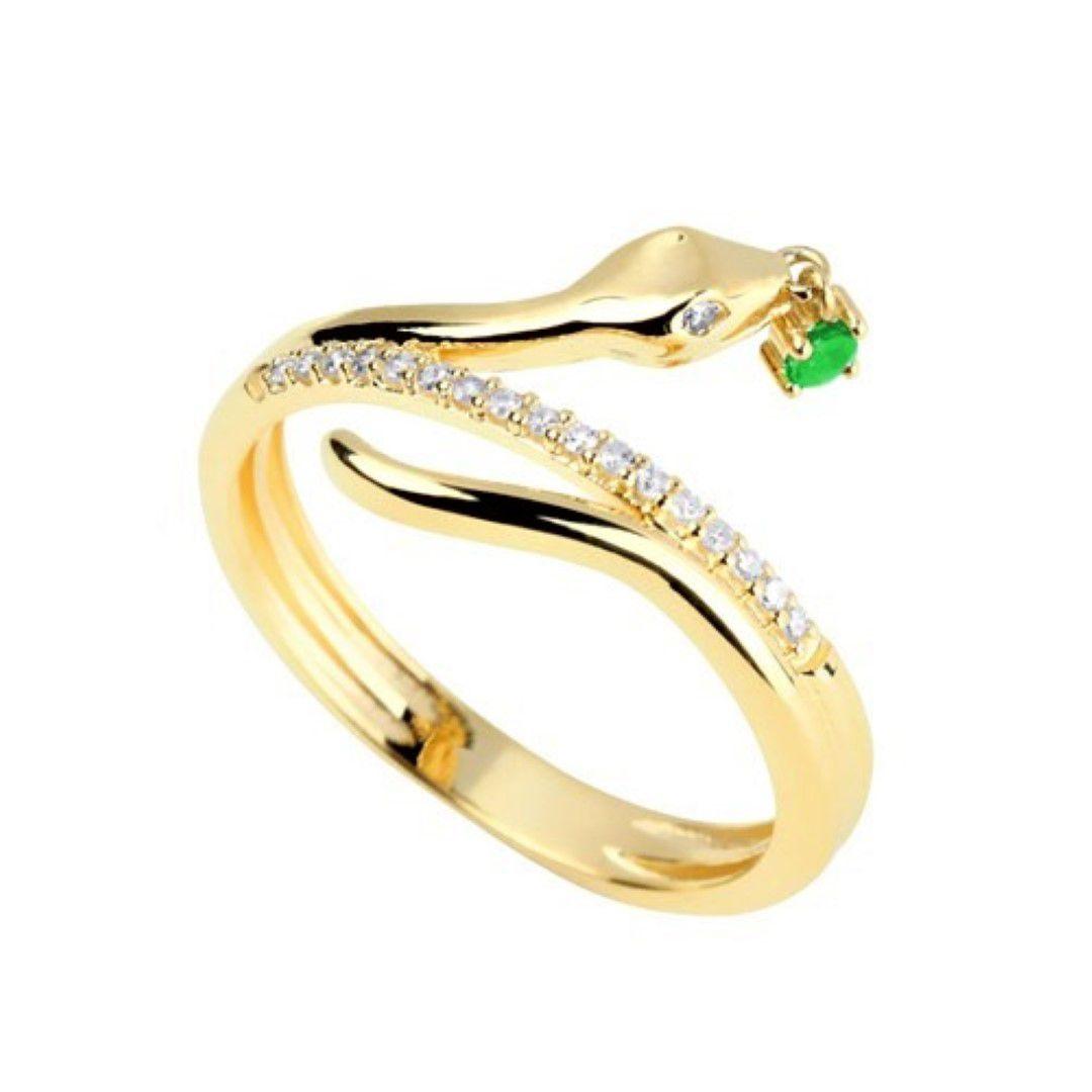 Anel Cobra com Pedras 19 Diamantes e 1 Pedra (Esmeralda, Rubi ou Safira) Natural Ouro 18k F JM1404k950