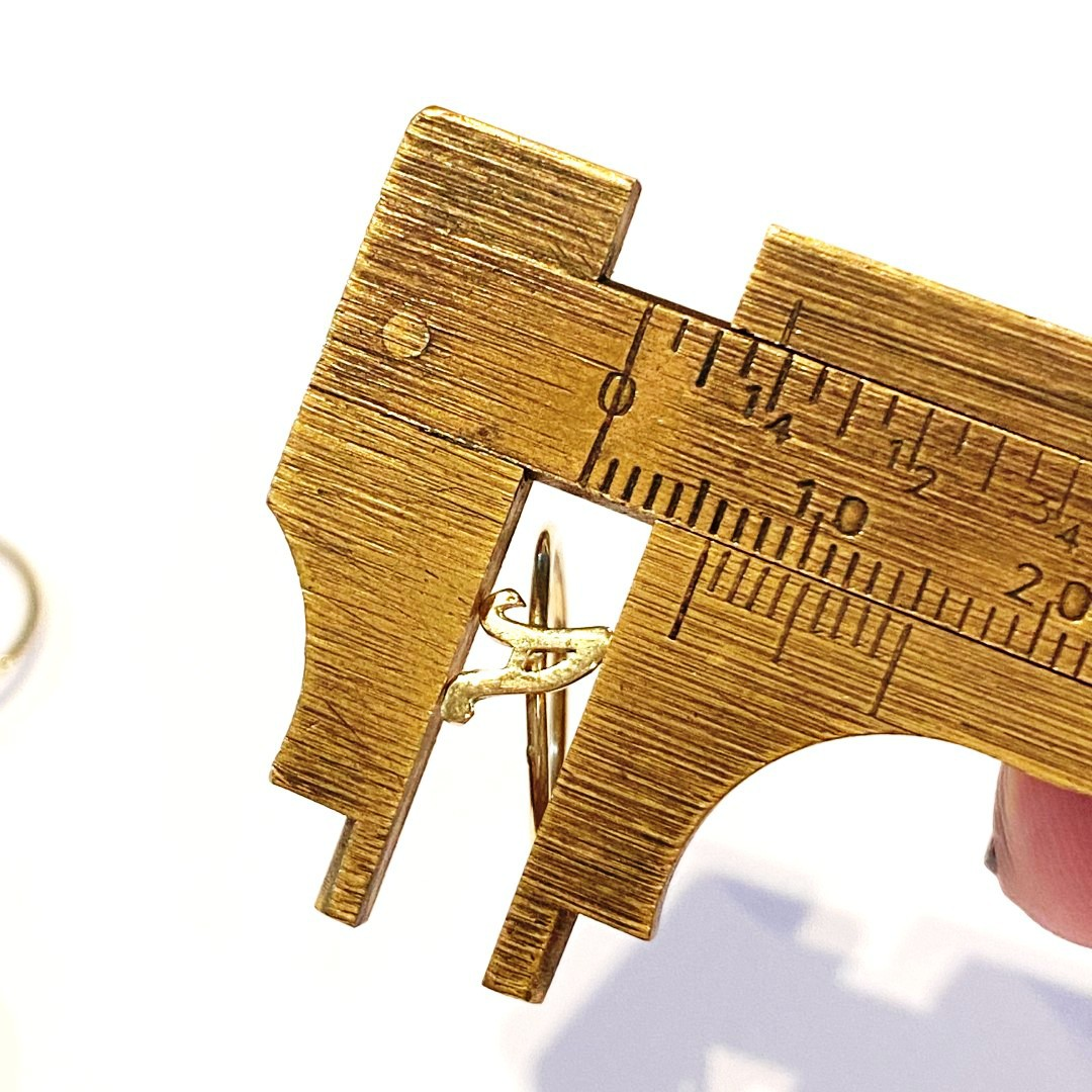 Anel Ouro 18k Com Letra S T U V  K090