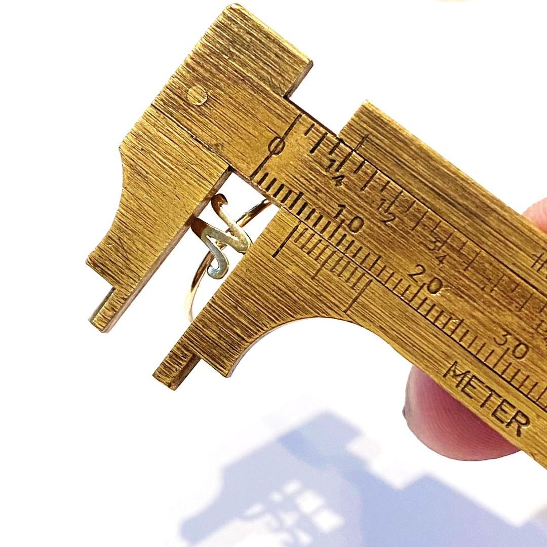Anel Ouro 18k Com Letra W X Y Z  K090