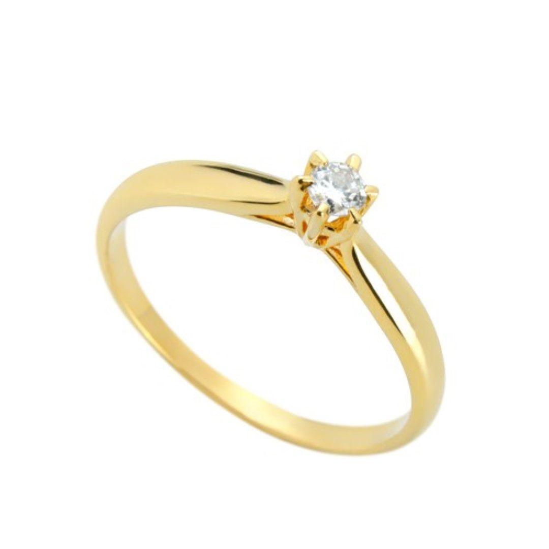 Anel Solitario Ouro 18k com Diamante de 10 pontos Natural FMJ1509 k450