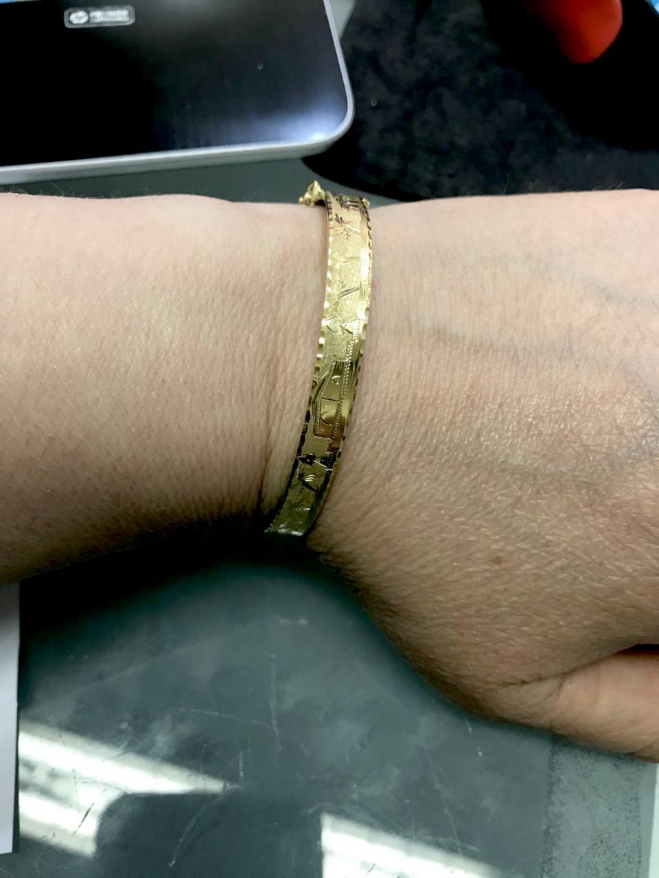 Bracelete Pulseira Escrava Piramides  Farao Egito Ouro 18k