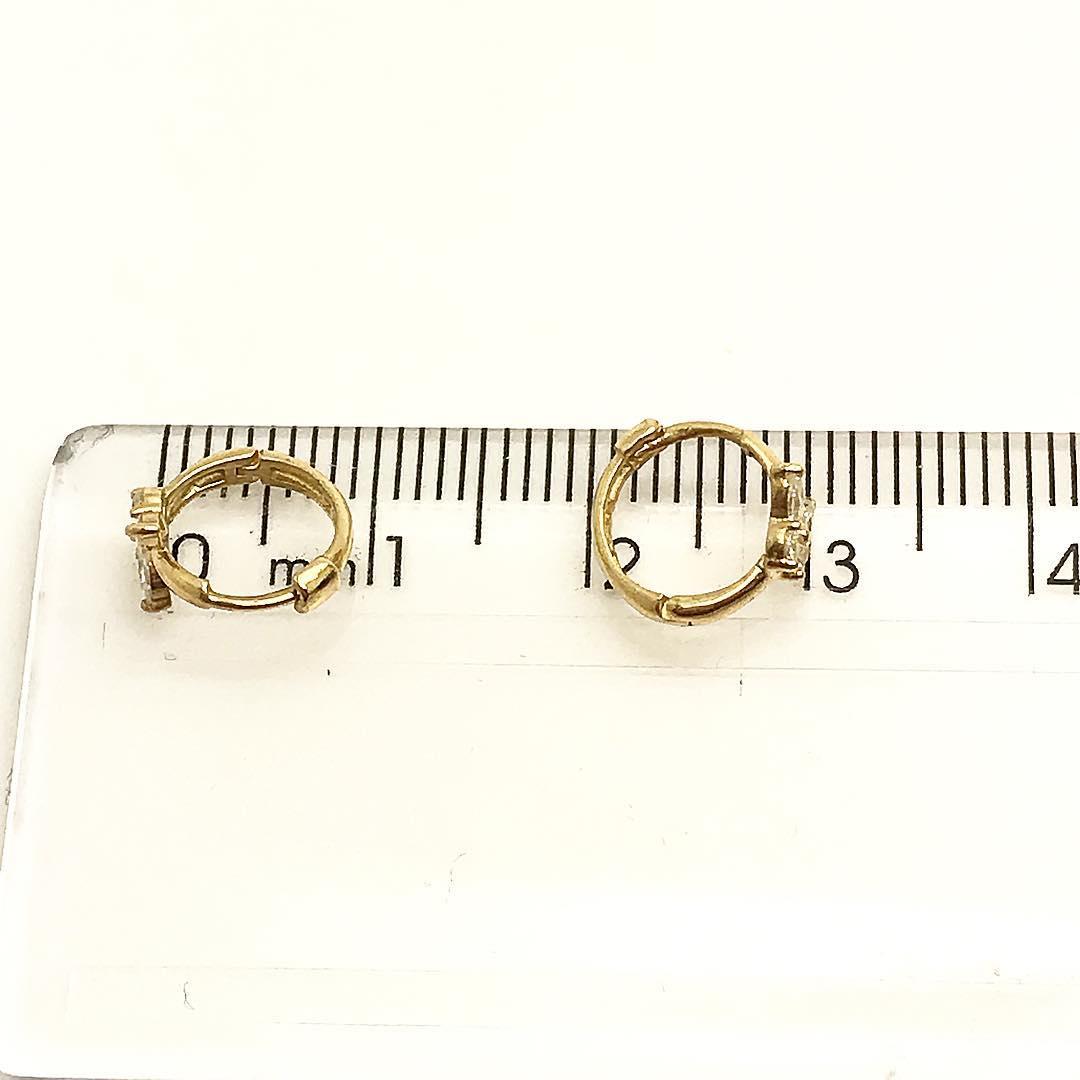 Brinco Argola 7mm Borboleta em Ouro 18k