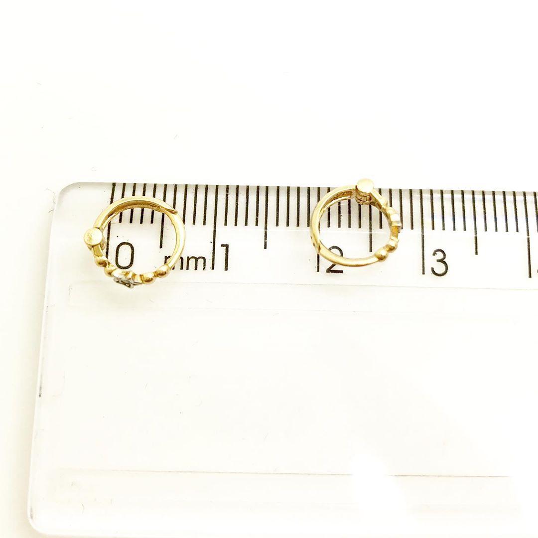 Brinco Argola - Segundo Furo -Bebe  Ouro 18k Argola 6mm Estrela com Diamante B13241