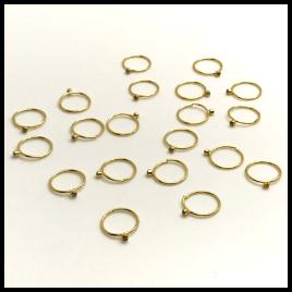 Ouro 18k Piercing Argola Ponto de Luz Cartilagem Tragus Orelha AO75K015