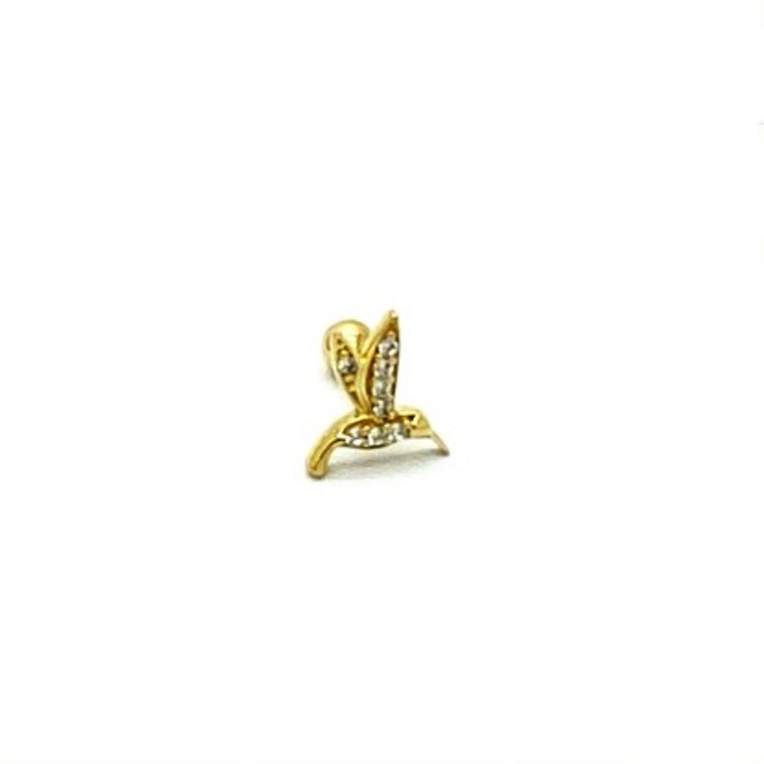 Ouro 18k Piercing Beija Flor com Pedras Cartilagem Hook Helix Tragus Orelha FCO302K060