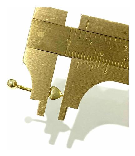 Piercing Coração Fechado Umbigo Ouro 18k 252 Certificado K70