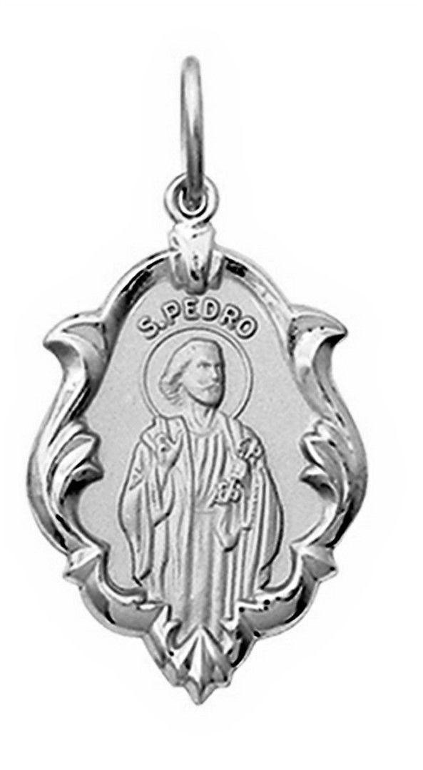 Pingente Medio 1.8cm Nossa Senhora Aparecida Ouro 18k  Branco k130