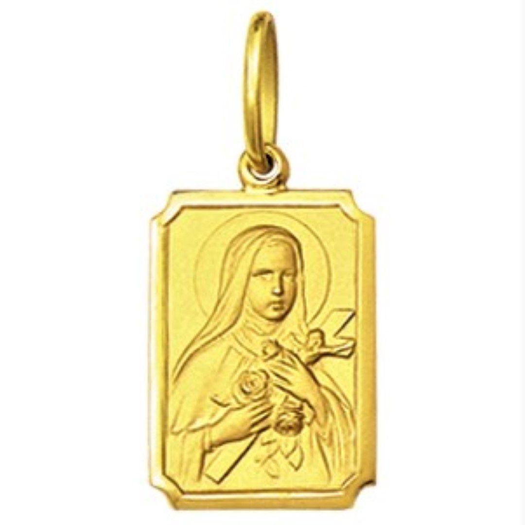 Pingente Pequeno 1.1cm Modelo Retangular Santos Ouro 18k ( 29 Santos ) K1