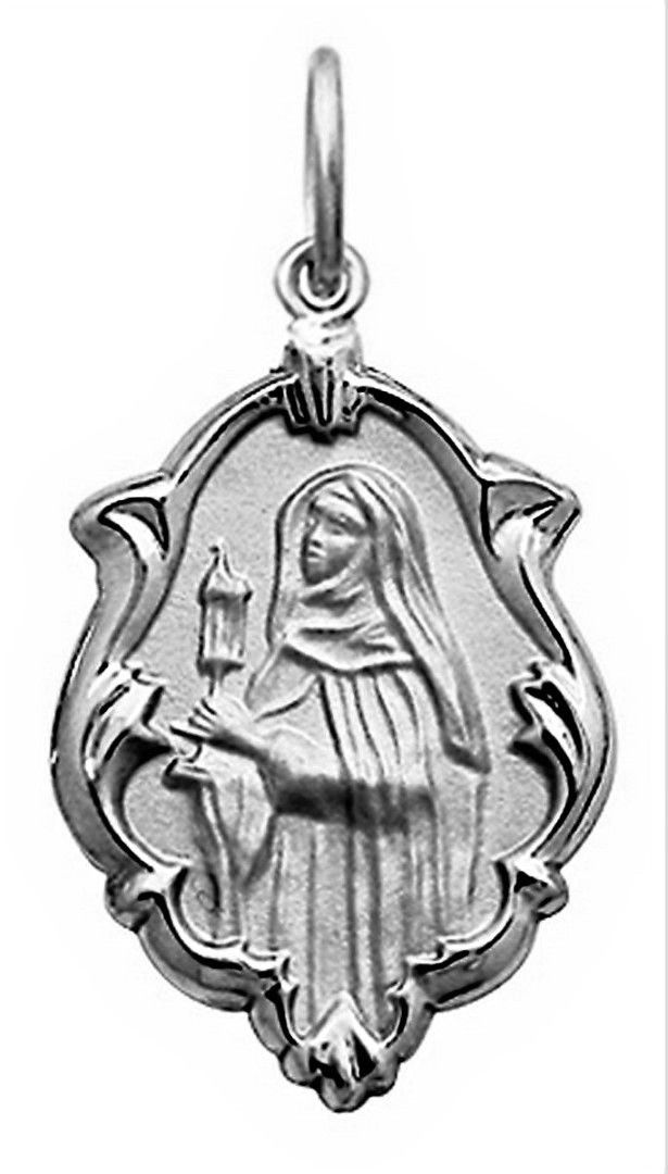 Pingente Pequeno 1.3cm Nossa Senhora Aparecida Ouro 18k Branco k070