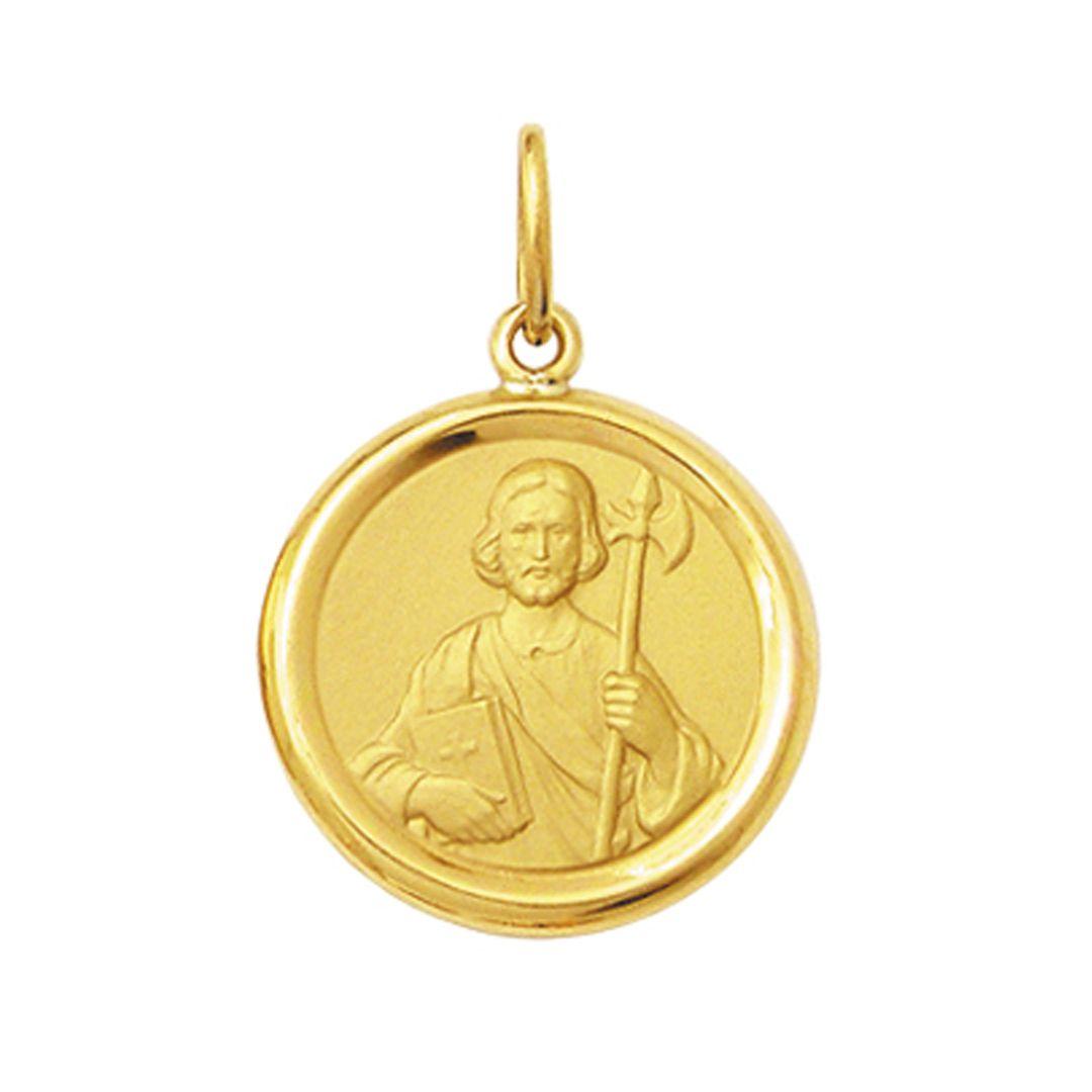 Pingente Pequeno 1,8cm Ouro Maciço 18k FDMR-1K200 (24 Santos)