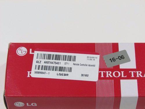 Controle Remoto Tv Led Lg Akb74475401 Original E Novo !!