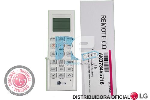 CONTROLE REMOTO LG AR CONDICIONADO AKB73455716 AKB73315616
