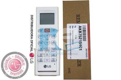 CONTROLE REMOTO LG AR CONDICIONADO AKB75215401