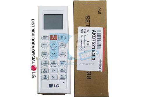 CONTROLE REMOTO LG AR CONDICIONADO AKB75215403