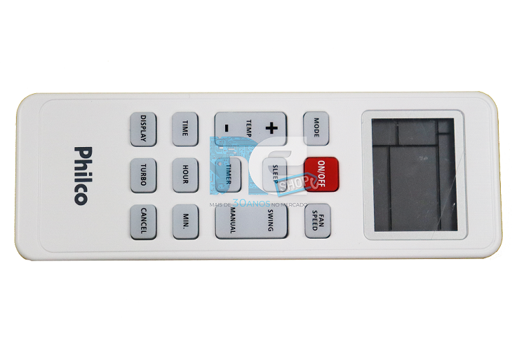 CONTROLE REMOTO PHILCO AR-CONDICIONADO LINHA FM5 PH18000FM5 PH12000IFM5 PH24000FM5 PH30000QFM5 PH9000IFM5