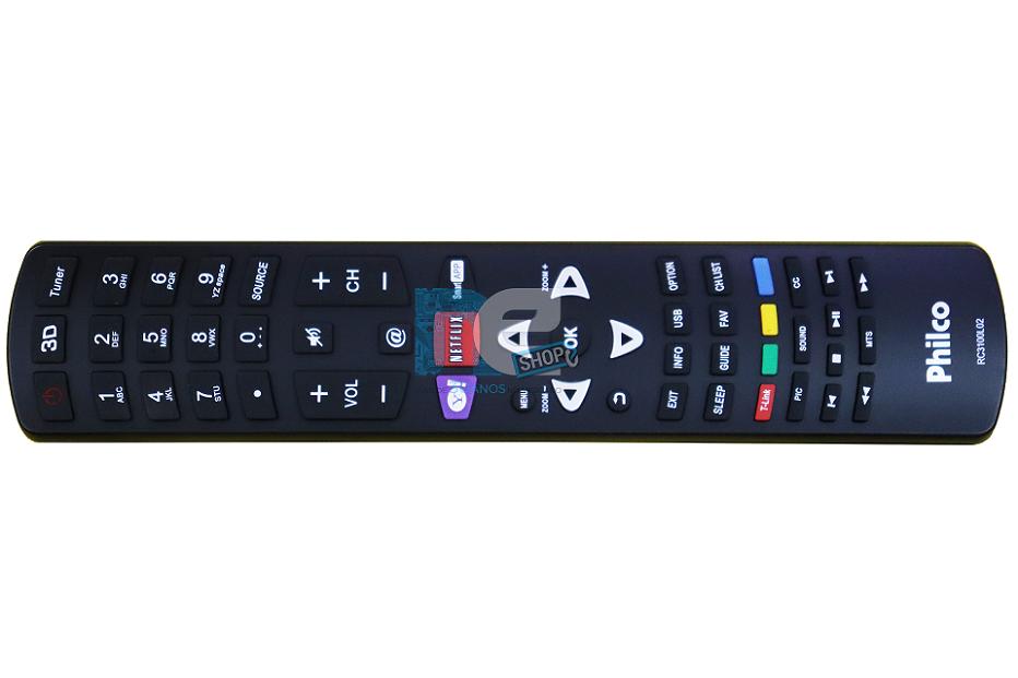 CONTROLE REMOTO PHILCO RC3100L02 NETFLIX + YAHOO 3D