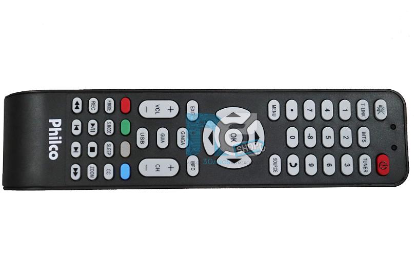 CONTROLE REMOTO PHILCO  SIMPLES PARA TVS SEM SMART PH19T21DGR PH24T21DG PH28T35DG PH32F33DG PH32F33DG PH42B25DG