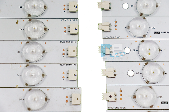 KIT BARRA DE LED AOC LE39D0330 39.0 SNB-C1-L + SNB-C1-R