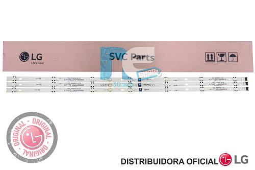 KIT BARRA DE LED ORIGINAL LG 43LJ5500 43LJ5550 43LJ551 43UJ6300 43LK5700 43LK571 AGM76191501 AGF78899502 AGM76149801 AGF