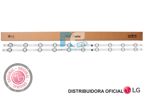 KIT BARRA DE LED ORIGINAL LG 43UJ6525 43UJ6565 AGF30001301 AGM76409701