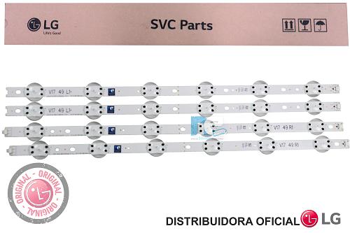 KIT BARRA DE LED ORIGINAL LG 49UJ6525 49UJ6565 AGF30001201 AGF30001101