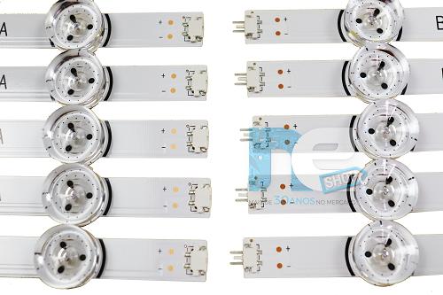 KIT BARRA DE LED ORIGINAL LG 55LB5600 55LB6500 55LB6200 55LF5600 AGF78401601 AGF78401701