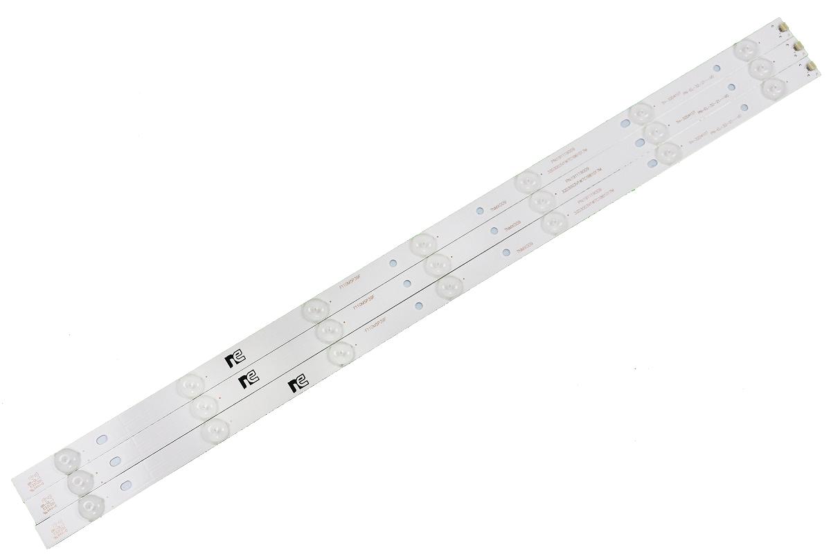 KIT BARRA DE LED PANASONIC TC-32D400B TC-32A400B TC-32ES600B TC-32FS600B 3 BARRAS COM 7 LEDS