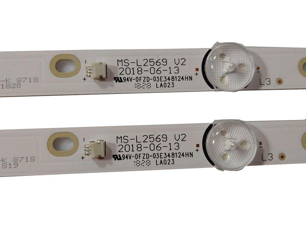 KIT BARRA DE LED PHILCO PTV32N87SA MS-L2569 V2