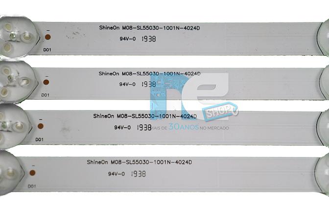 KIT BARRA DE LED PHILCO PTV55Q20SNBL M08-SL55030-1001N-4024D