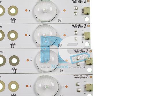 KIT BARRA DE LED PHILIPS 40PFG5000 40PFG5100 40PFG5109 LE40D1452 LE40D1442