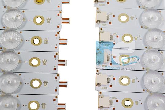 KIT BARRA DE LED PHILIPS 55PUG6102/78 55PUG6801/78 55PUG6601 LBM550M0701-KY-4