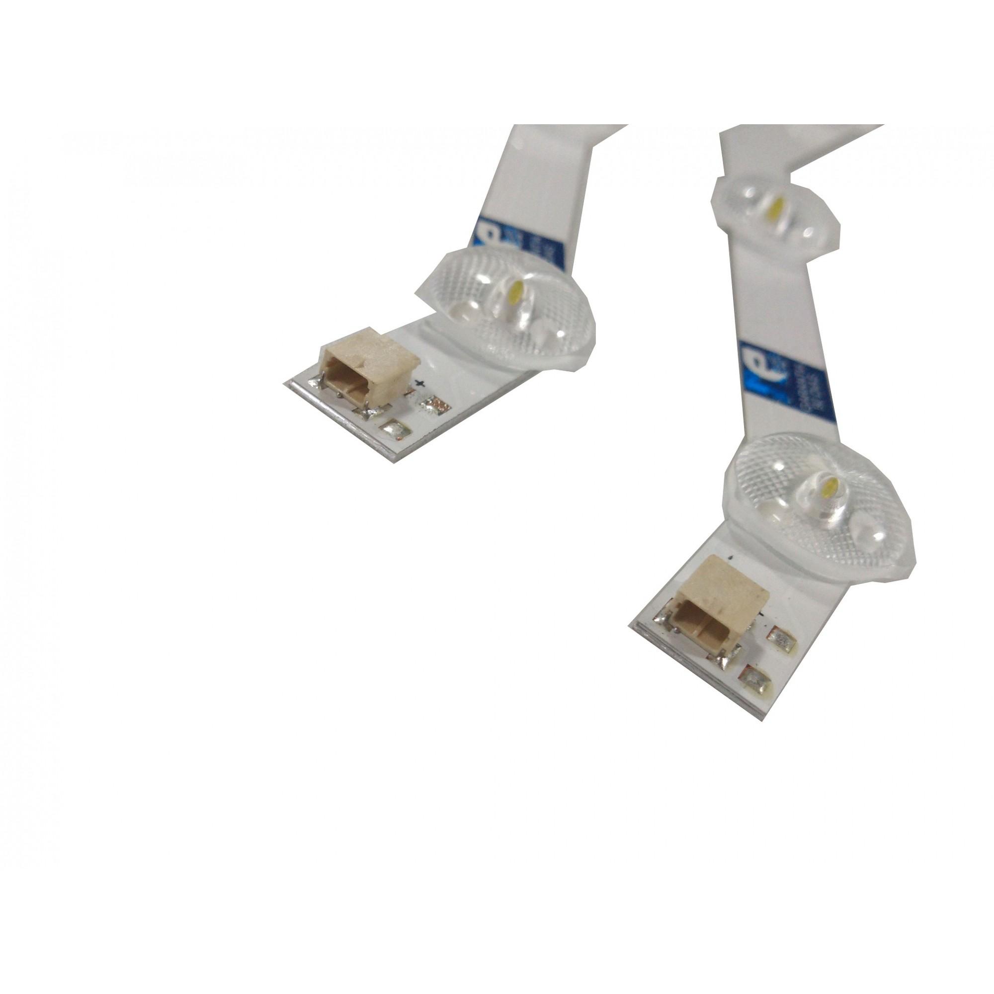 KIT BARRA DE LED SAMSUNG UN32FH4205G UN32FH5205G UN32H4303AG 9 LEDS