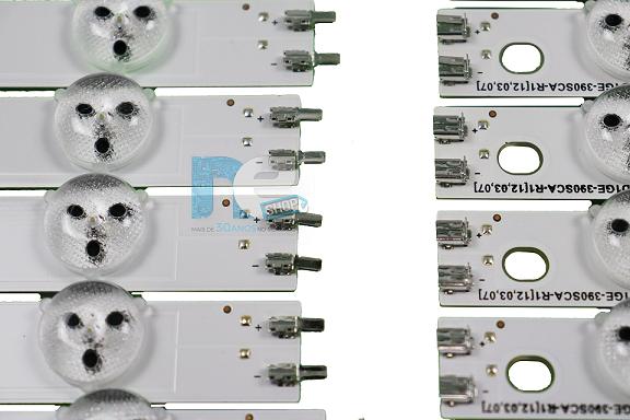 KIT BARRA DE LED SAMSUNG UN39EH5003G UN39FH5030G 28342A + 28343A